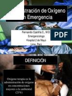 Administracion de Oxigeno en Emergencia