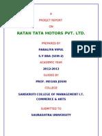 Real Project of Ratan Tata Motors Pvt Ltd.