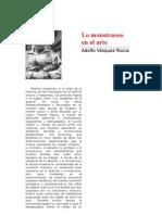 Adolfo Vazquez Rocca-Lo Monstruoso en El Arte