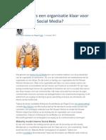 Wanneer is Een Organisatie Klaar Voor Enterprise Social Media