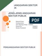 Penganggaran Sektor Publik Dan Jenis Anggaran Sektor Publik