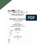 Ferrand, Gabriel. 1893. Les musulmans à Madagascar et aux Comores. Deuxième partie. Zafindraminia, antambahoaka, onjatsy, antaiony, zafikazimambo, antaivandrika et sahatavy.