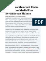 Cara Membuat Penerbitan Tabloid