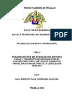 Informe de Experiencia Profesional Titulo Ing. Mecanico Paul Rodriguez