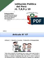 Constitucion 93 Art 7,8,9,10