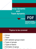 Group Dynamic and Team Dynamic