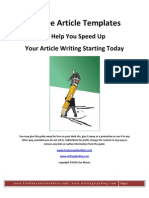 Free Article Templates eBook