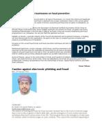 Expert Advises Oman Businesses on Fraud Prevention