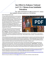 Udall Launches Effort to Enhance National Security, Protect U.S. Citizens From Indefinite Detention