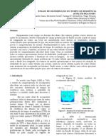 Ensaio de distribuição do tempo de residência (DTR) em reatores