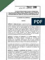 Ley 1424 de 2010