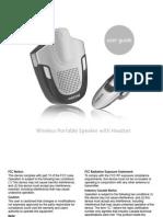 Wireless Portable Speaker Headset GMC ENVOY
