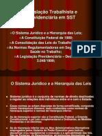 Legislacao Trabalhista e Previdenciaria Em SST Ppt LEILA