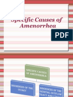 Specific Causes of Amenorrhea
