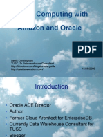 Cloud Computing Using Oracle and Amazon Web Services