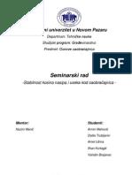 SEMINARSKI RAD - Stabilnost Kosina Useka i Nasipa