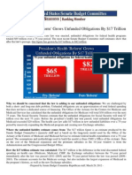 President's Health 'Reform' Grows Unfunded Obligations By $17 Trillion