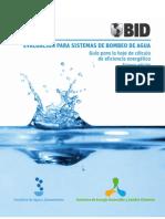 Evaluación para sistemas de bombeo de agua Guía para la hoja de cálculo