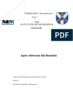 Apele subterane din România- referat final