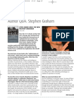 Stephen Graham author  Q&A