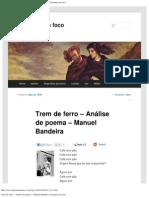 Trem de ferro – Análise de poema – Manuel Bandeira _ literatura em foco