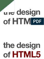 Design of HTML 5