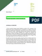 4th Quarter Agriculture Report 2007