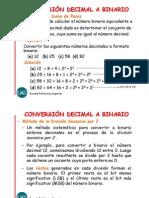 Convertir de decimal a binario