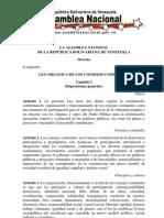 Ley Consejos Comunales 2010