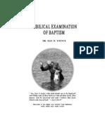Biblical Examination of Baptism