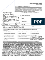 United States Attorney Civil Rights Complaint State of Oregon