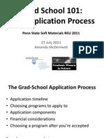 Grad School 101 - Applications