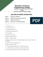 Mining Engineering Syllabus