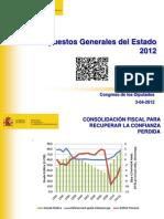 Presupuestos Generales del Estado para 2012