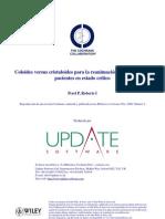 Coloides vs Cristaloides en pacientes críticos