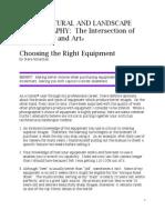 Choosing the Right Equipment