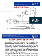 Scalar and Vector Control of IM Drive