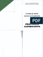 Propuesta Alternativa . Dictamen en minoría y proyecto de constitución