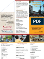 Santa Clara University Trifold Brochure