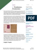 DaVinci Code, Watchtower, Adventists & Freemasonry