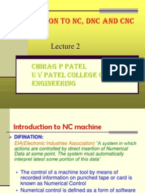 02_Introduction to NC_CNC and DNC   Numerical Control   Electronics