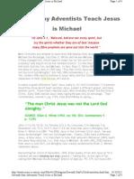 SDA Teach That Jesus is Michael the Archangel