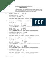 Nov 2006 Paper 3 Mark Scheme