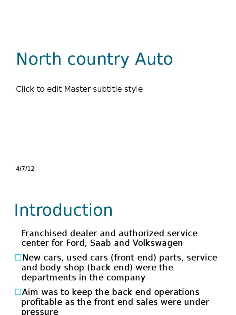 north country auto parts