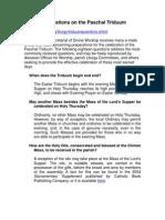 18 Questions on Paschal Triduum