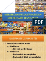 Membedakan Klasifikasi Dan Diferensiasi Bisnis Ritel
