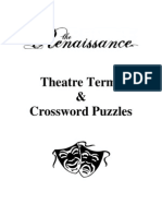 Theatre Terms & Crossword Puzzles