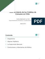 Tasa de Interes Creditos de Consumo en Chile