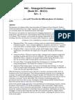 Managerial Economics MB 0042