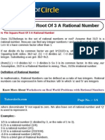 Is the Square Root of 3 a Rational Number